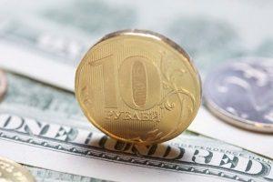 Рост рубля после открытия биржи