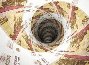 Рубль продолжает пикировать вниз