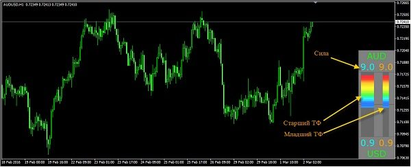 Индикатор силы тренда Форекс CPM 3 Current Pair