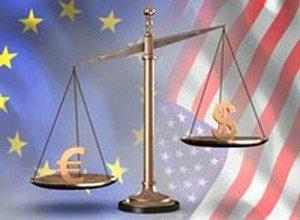 Дневной диапазон для евро и доллара